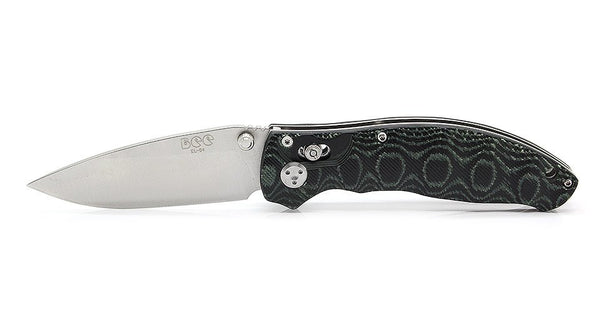 Enlan EL-04MCT Satin 8Cr13MoV Micarta Handle Folding Knife