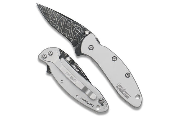 Kershaw 1600DAM Chive Damascus Blade Stainless Steel Handle