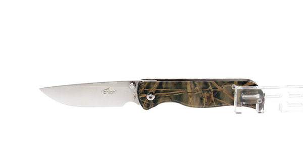 Enlan M021CA Satin 8Cr13MoV Aluminum Scales Folding Knife