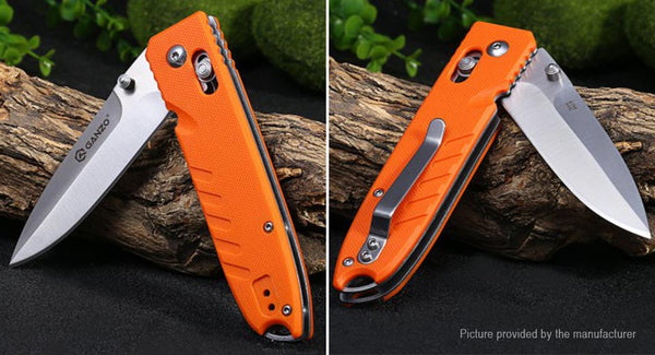 GANZO G746-1-OR Satin 440C Orange G10 Folding Knife
