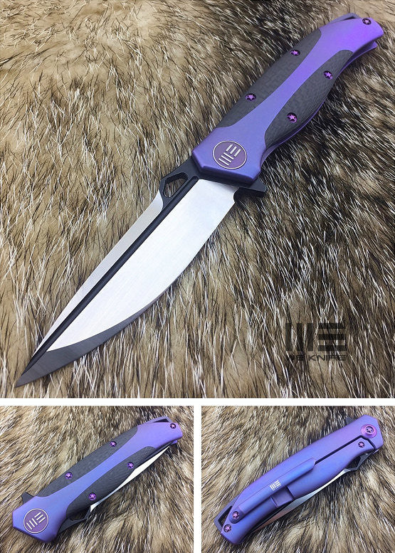 WE Knife 606CFA Drop Point S35VN Titanium Frame Lock Flipper