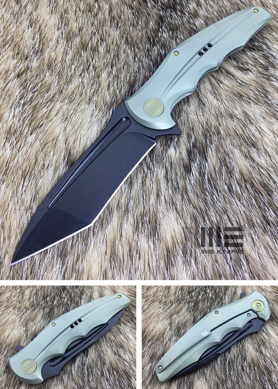 WE Knife 608A Tanto Coated S35VN Titanium Frame Lock Flipper