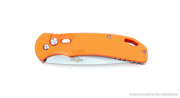 FIREBIRD F7582-OR 440C Steel G10 Handle Folding Knife with Safety