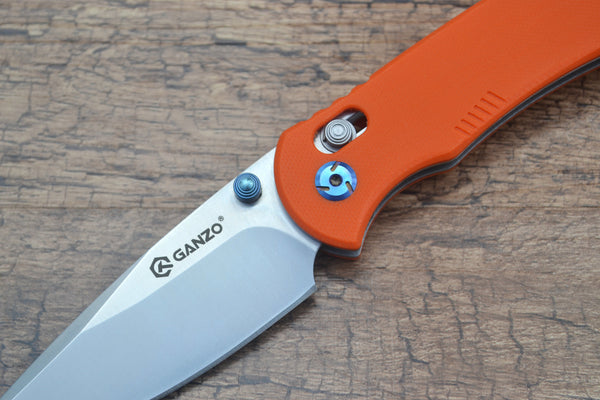 GANZO G7531-OR Satin 440C G10 Scales Folding Knife