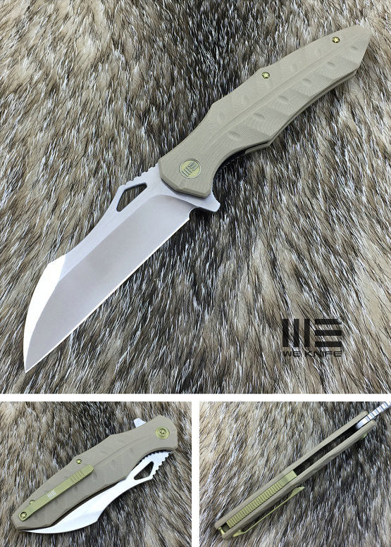 WE Knife 701D D2 Blade G10 Scales Liner Lock Flipper