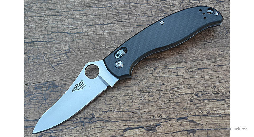 FIREBIRD GANZO F733-CF Stonewash 440C Carbon Fiber Handle Scales Folding Knife