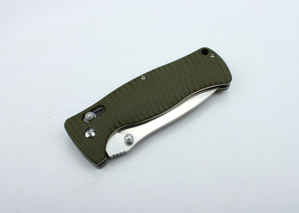 GANZO F720-GR Satin 440C Green G10 Folding Knife