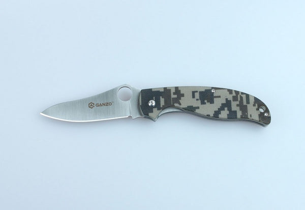 GANZO G734-CA Satin 440C Camo G10 Folding Knife