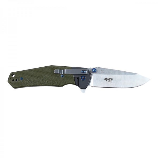 Ganzo G7491-GR 440C Satin G10 Ball Bearing Pivot Flipper Knife