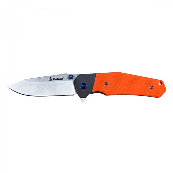 Ganzo G7491-OR 440C Satin G10 Ball Bearing Pivot Flipper Knife