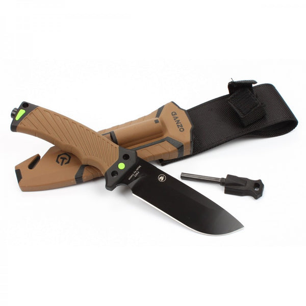 GANZO G803-DY Fixed Blade Survival Knife