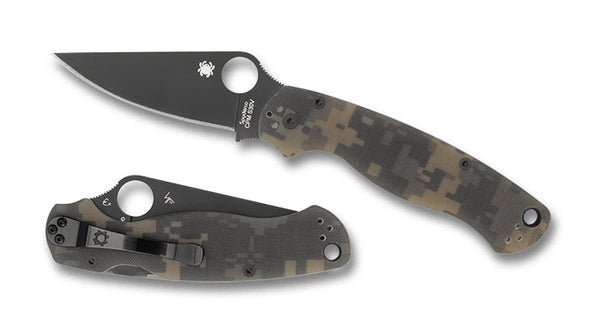Spyderco Para Military 2 Coated S30V Camo G10 Scales Folding Knife