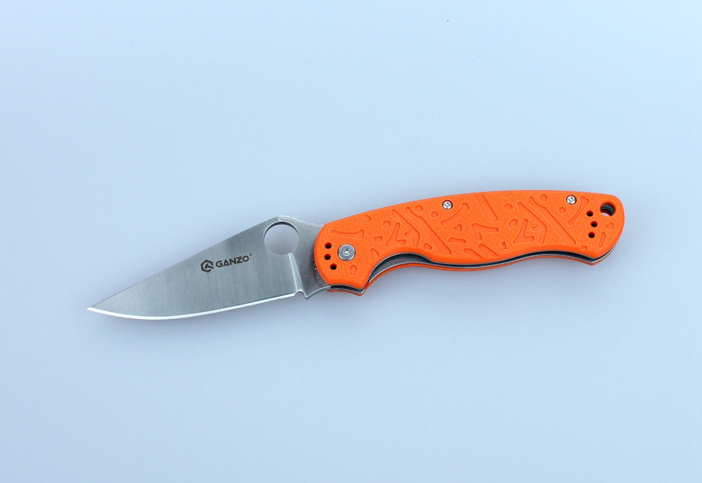 GANZO G730-OR Satin 440C Orange G10 Folding Knife