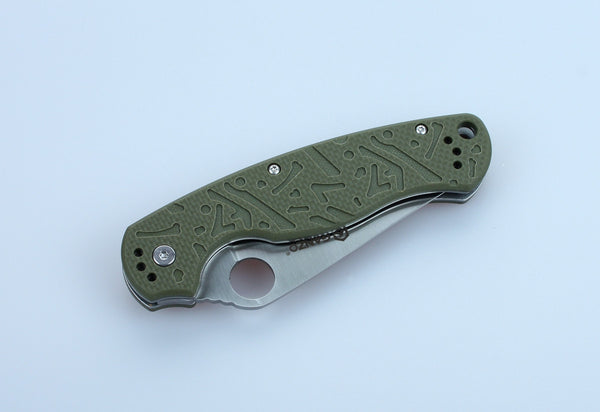 GANZO G730-GR Satin 440C Green G10 Folding Knife