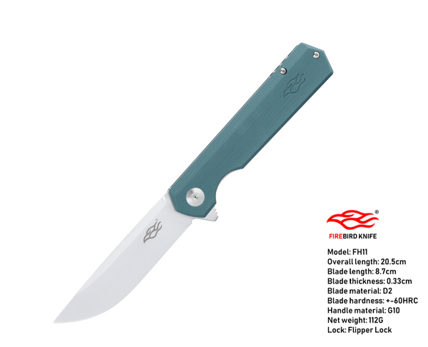 Ganzo Firebird FH11-GB D2 Steel G10 Handle Scales