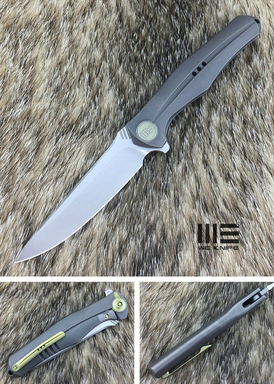 WE Knife 702A Bohler M390 Titanium Frame Lock Flipper