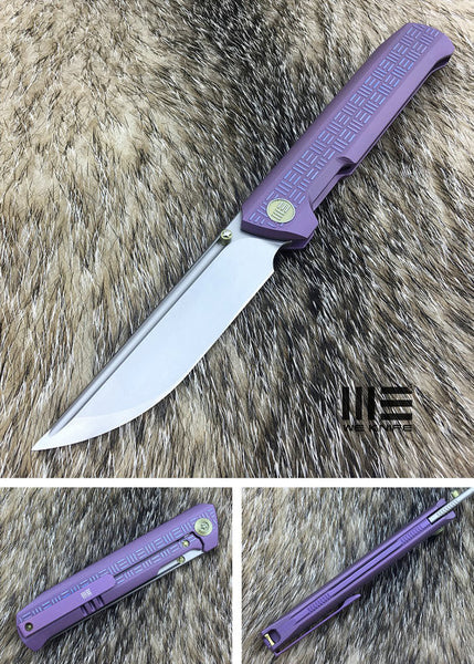 WE Knife 710B Bohler M390 Steel Titanium Handle Flipper