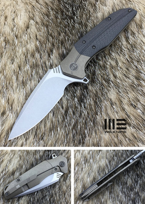 WE Knife 707D CPM S35VN Steel Titanium Carbon Fiber Handle Flipper
