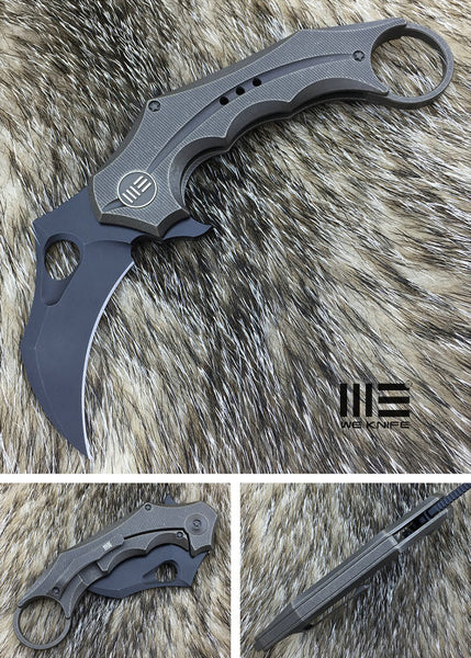 WE Knife 708E CPM S35VN Titanium Frame Lock Flipper