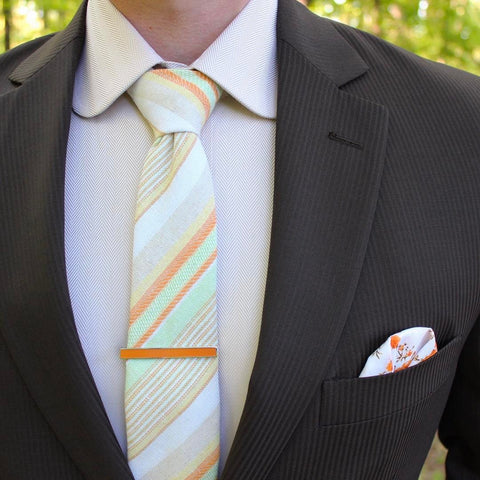 Roziak Tie Bar on Orange