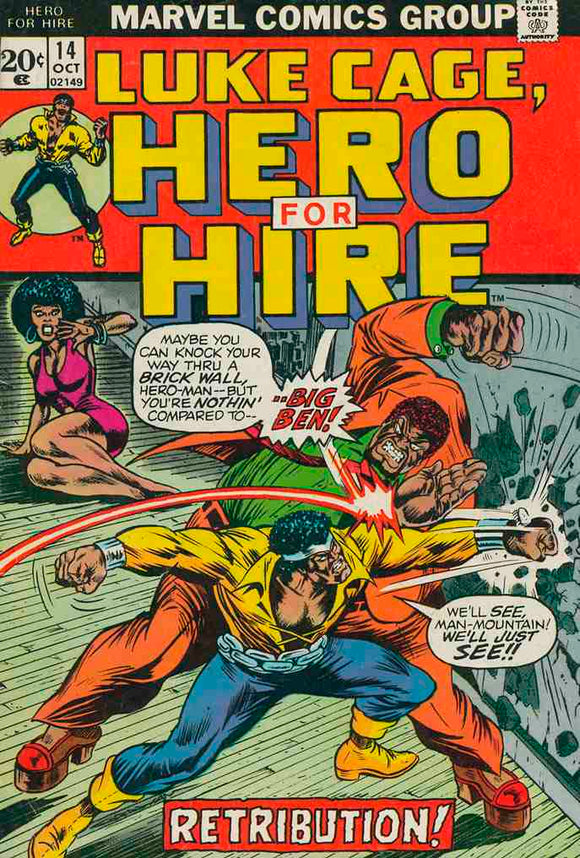 Power Man and Iron Fist 1972 Hero for Hire #14 VF