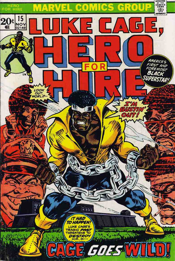 Power Man and Iron Fist 1972 Hero for Hire #15 VG+