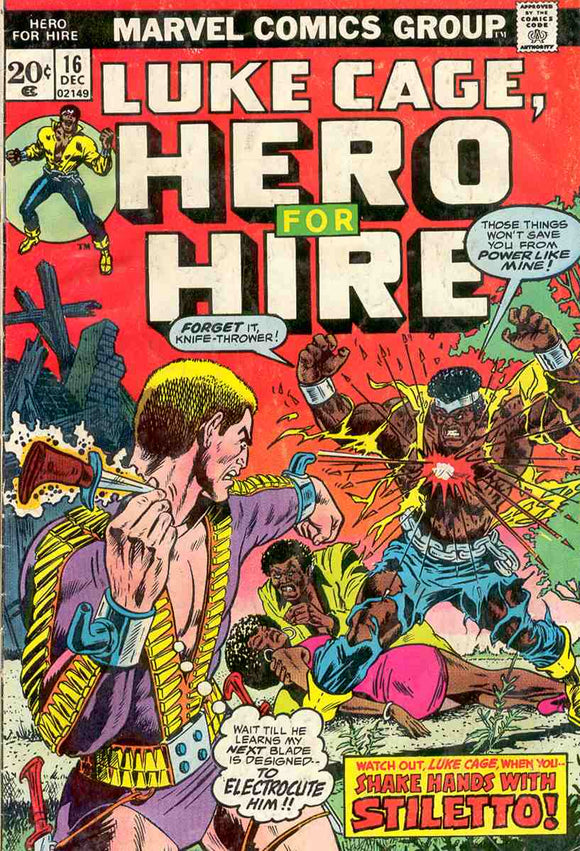Power Man and Iron Fist 1972 Hero for Hire #16 FN+