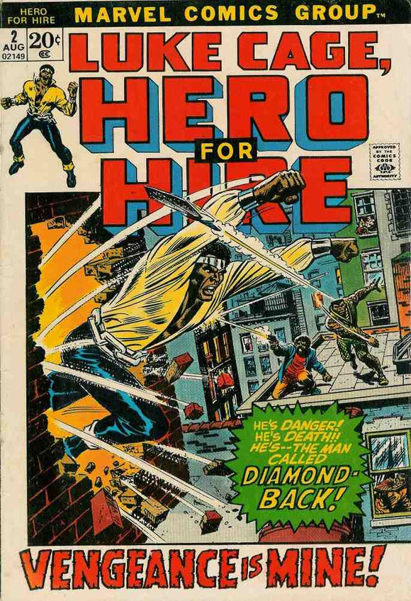 Power Man and Iron Fist 1972 Hero for Hire #2 VG/VG+