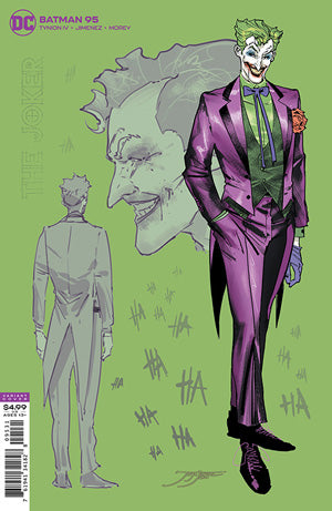 BATMAN #95 INC 1:25 JORGE JIMENEZ JOKER CARD STOCK VAR (JOKER WAR)