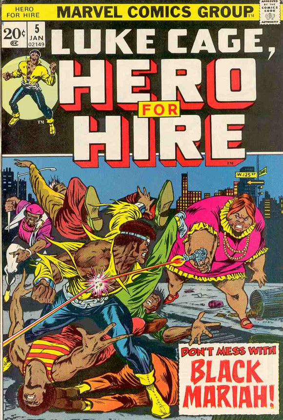 Power Man and Iron Fist 1972 Hero for Hire #5 FN+
