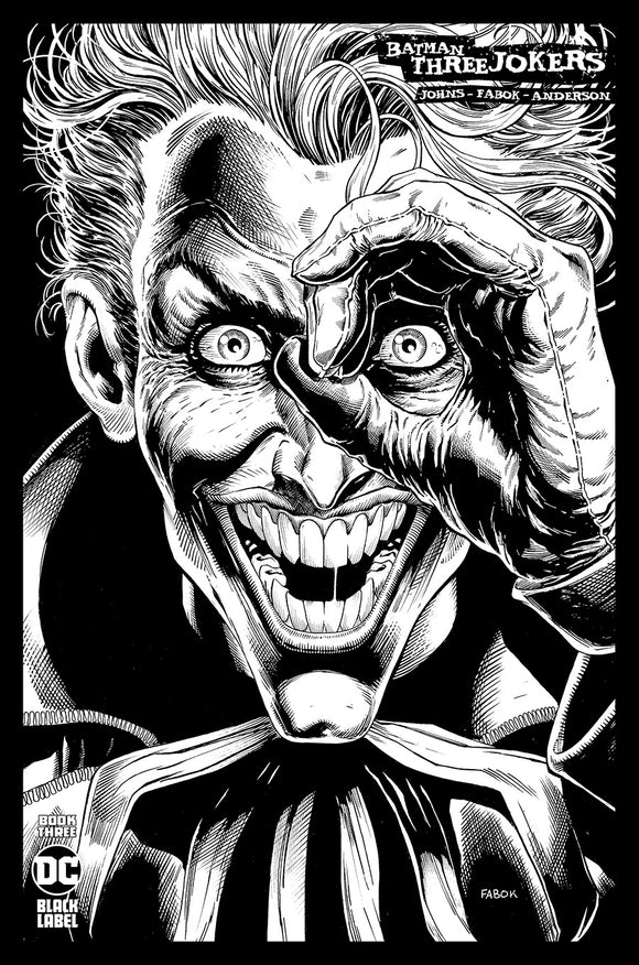 BATMAN THREE JOKERS #3 (OF 3) INC 1:100 JASON FABOK B&W VAR