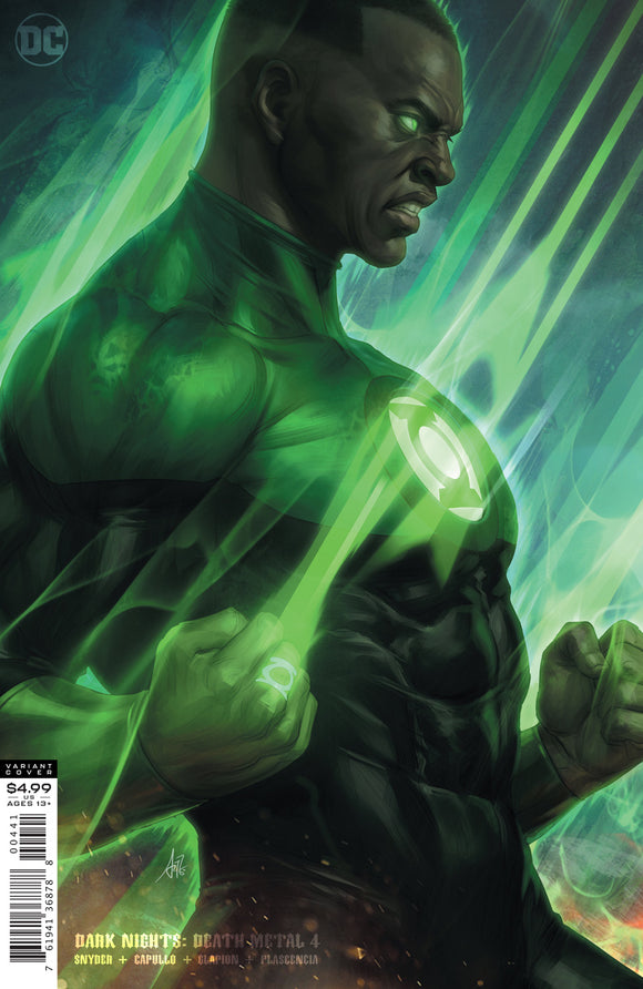 DARK NIGHTS DEATH METAL #4 (OF 7) CVR D STANLEY ARTGERM LAU GREEN LANTERN JOHN STEWART VAR