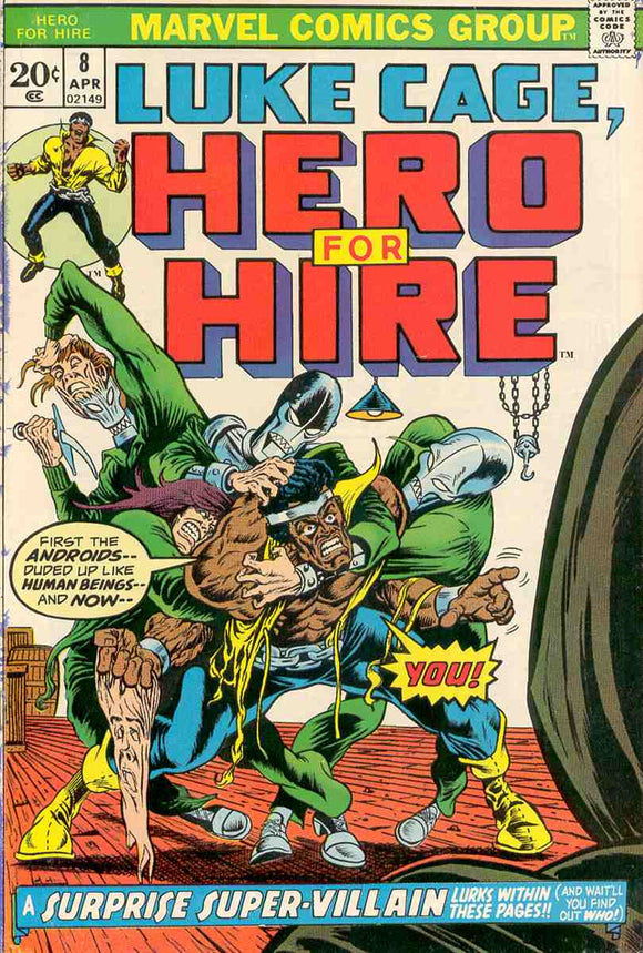 Power Man and Iron Fist 1972 Hero for Hire #8 GOOD