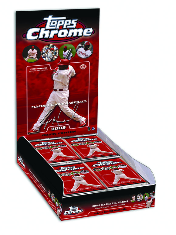 TOPPS 2008 CHROME MLB T/C BOX (NET) (C: 1-1-2)