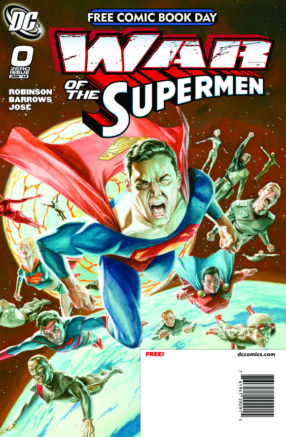 FCBD 2010 WAR OF THE SUPERMEN #0 (NET)