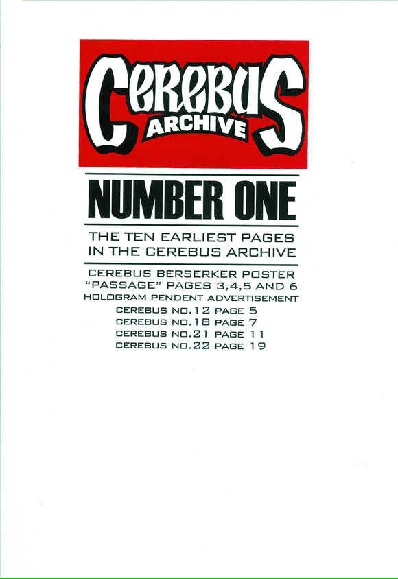 CEREBUS ARCHIVE VOL 01 (C: 0-1-0)