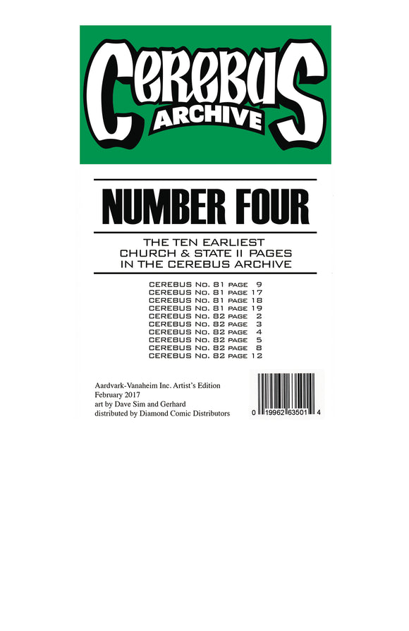 CEREBUS ARCHIVE VOL 04 (C: 0-1-0)