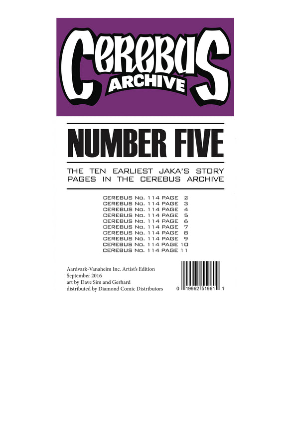 CEREBUS ARCHIVE VOL 05 (C: 0-1-0)