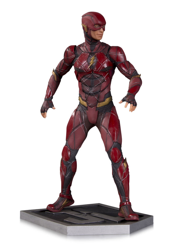 JUSTICE LEAGUE MOVIE THE FLASH STATUE