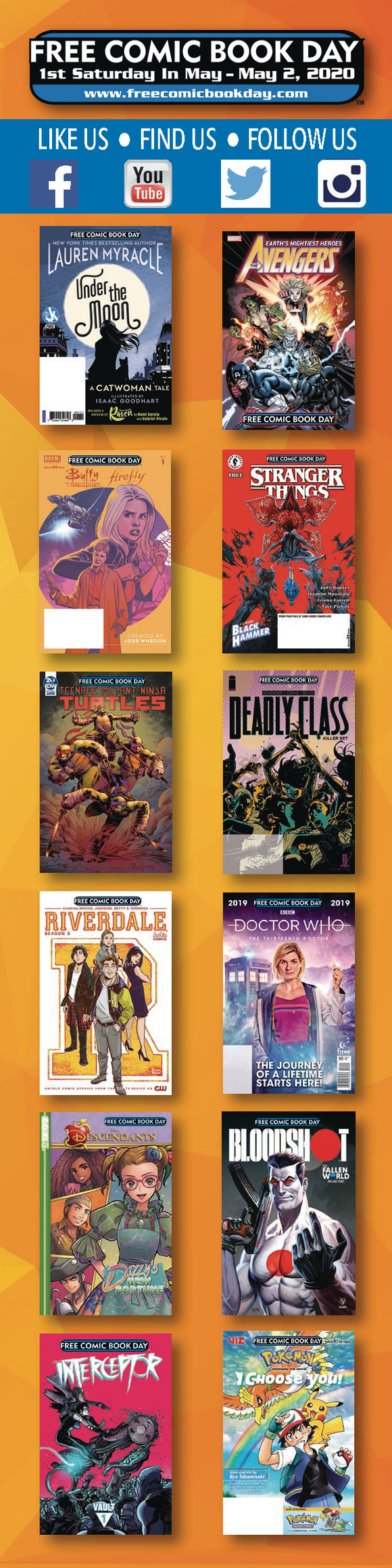 FCBD 2020 BOOKMARKS (BUNDLE OF 50) (NET)