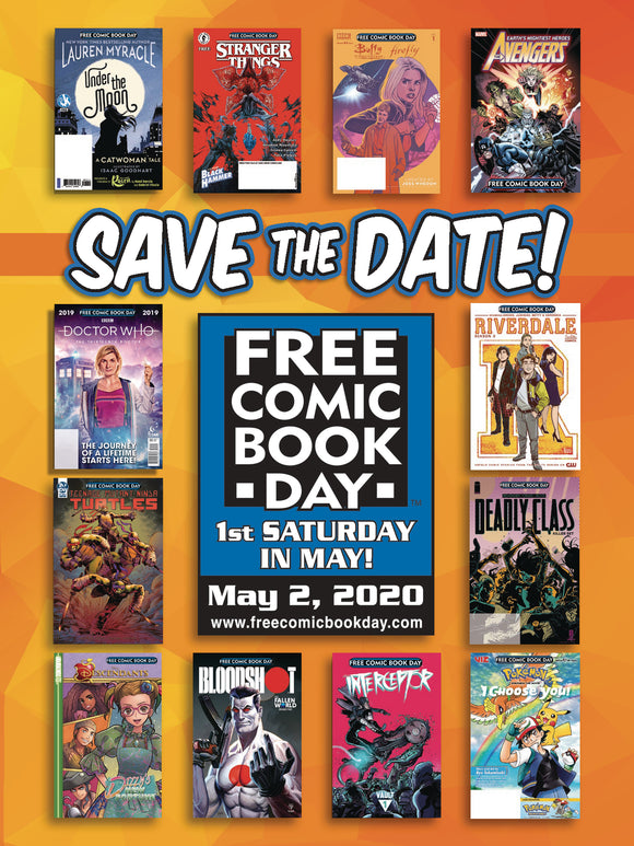 FCBD 2020 POSTCARDS (BUNDLE OF 50) (NET)