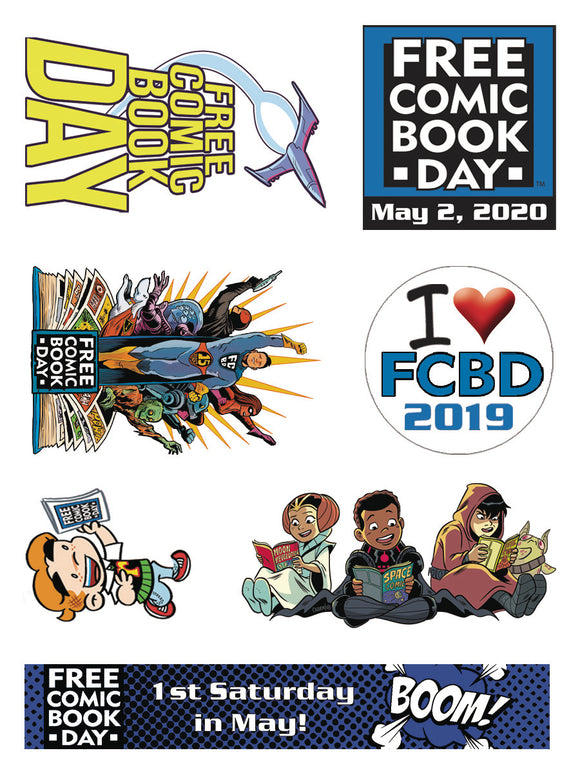 FCBD 2020 TEMPORARY TATTOOS (BAG OF 50) (NET)