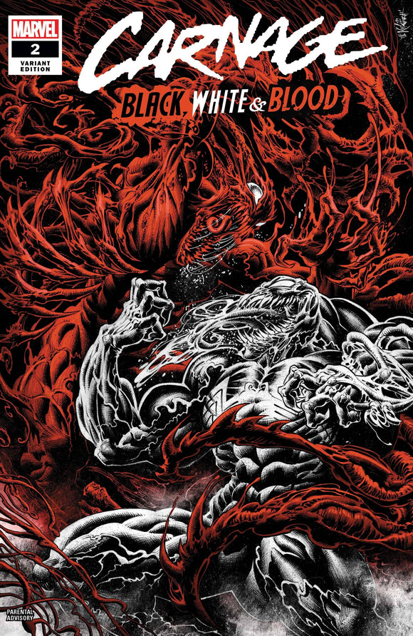 CARNAGE BLACK WHITE AND BLOOD #2 (OF 4) HOTZ VAR
