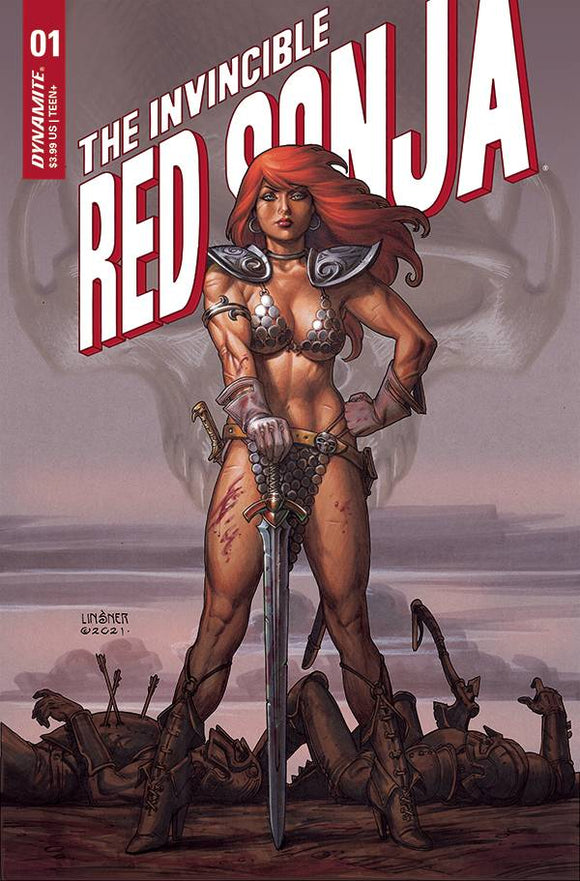 INVINCIBLE RED SONJA #1 CVR B LINSNER