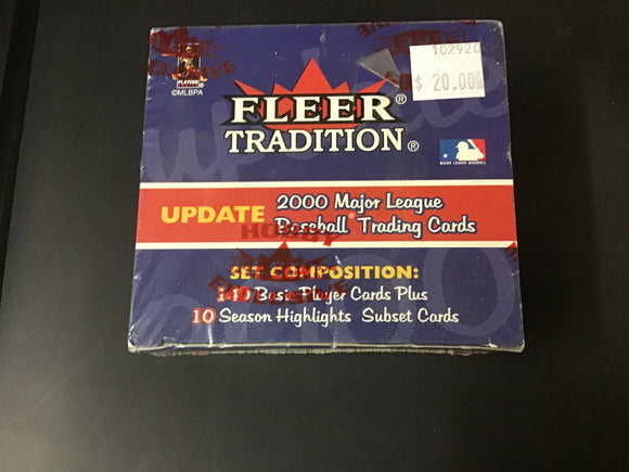 2000 fleer tradition baseball cards update set
