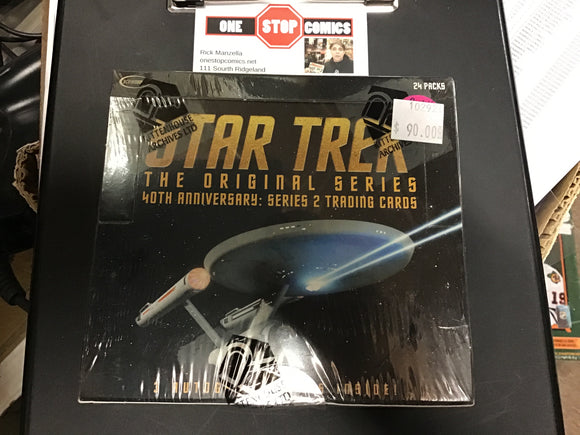 Star Trek The Original Series 40th Anniversary 2 - Trading Card Hobby Box