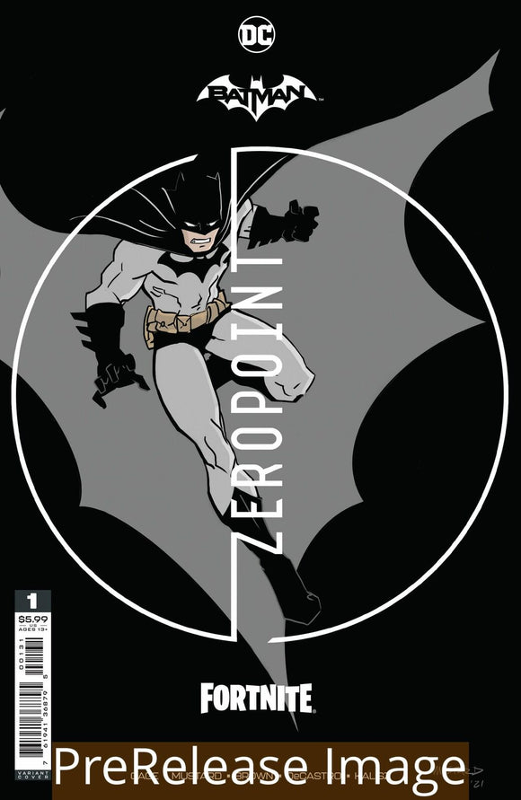 BATMAN FORTNITE ZERO POINT #1 (OF 6) PREMIUM VAR A DONALD MUSTARD CARD STOCK (25 COPY MIN ORDER)
