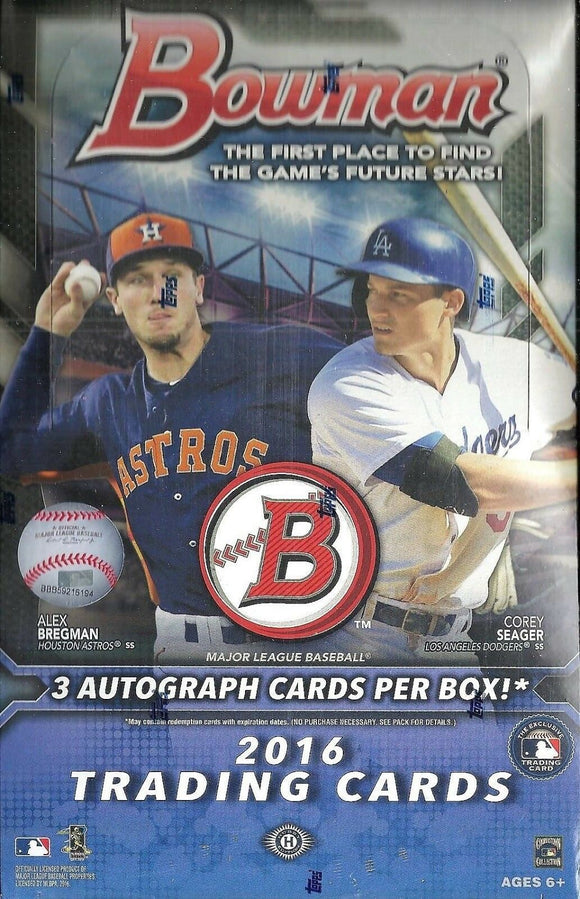 BOWMAN 2016 BASEBALL T/C JUMBO BOX (NET) (C: 1-1-1)
