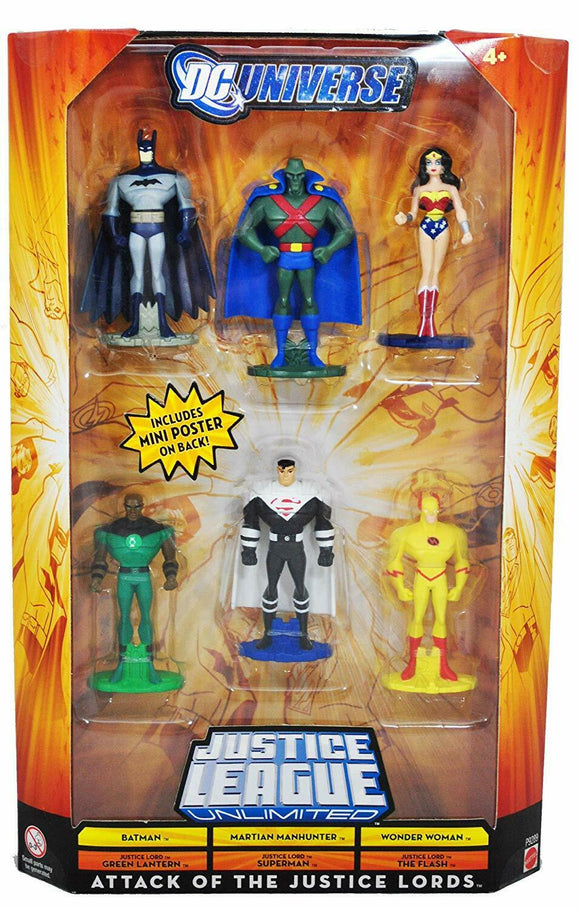 DC UNIVERSE ATTACK OF THE JUSTICE LEAGUE 6-PACK BATMAN WONDER WOMAN FLASH +