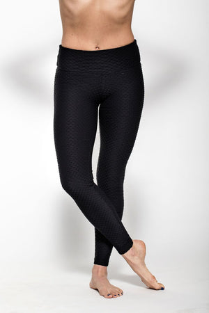 Wave Legging - Black-Leggings-coco on the go
